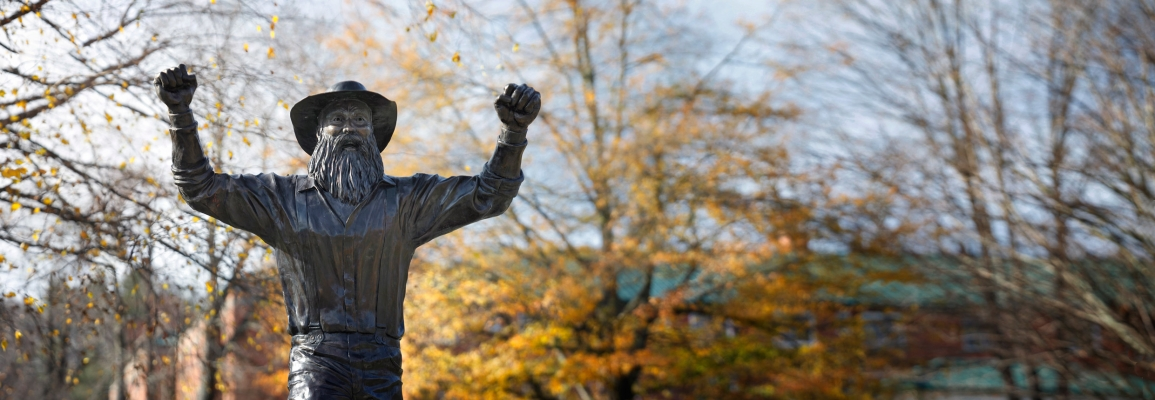Yosef on Appalachian State University campus
