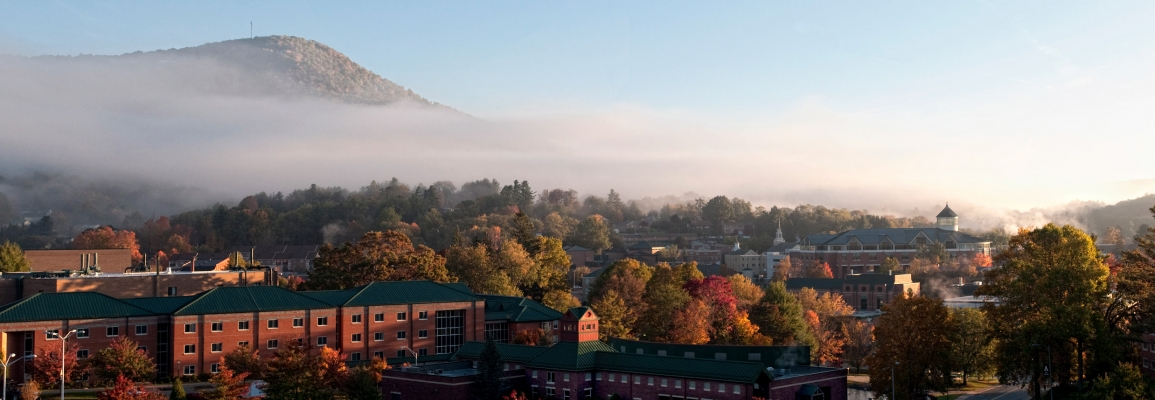 Appalachian State University Fall Panorama